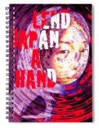 Lend Japan A Hand Spiral Notebook