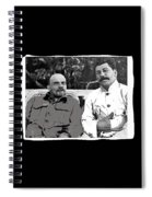 Lenin And Stalin Circa 1923 Color And Drawing Added 2016    Spiral Notebook