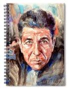 Leonard Cohen Painting Spiral Notebook