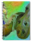 Leonidas And Soccer Shoes Spiral Notebook