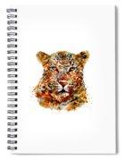 Leopard Head Watercolor Spiral Notebook