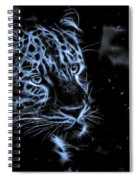 Leopard In The Darkness.  Spiral Notebook