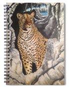 Leopard On The Rocks Spiral Notebook