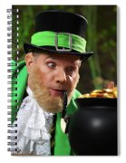 Leprechaun With Pot Of Gold Spiral Notebook
