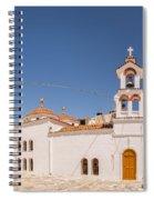 Lerapetra Church Square Pano Spiral Notebook