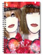 Les Filles Rouget Spiral Notebook