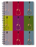 Les Paul Colorful Poster Spiral Notebook