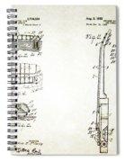 Les Paul Guitar Patent 1955 Spiral Notebook