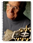 Les Paul With His White Gibson Les Paul Custom Guitar By Gene Martin Spiral Notebook