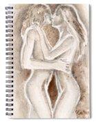 Lesbians Kissing Spiral Notebook