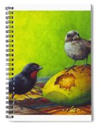 Lesser Antillean Bullfinches And Mango Spiral Notebook