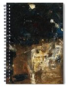 Lesser Ury  Rainy Berlin Street Spiral Notebook