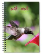 Lessons From Nature - Eat Well Spiral Notebook
