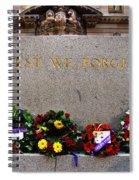 Lest We Forget War Memorial Martin Place Spiral Notebook
