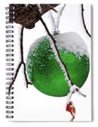 Let It Snow Christmas Ornament Spiral Notebook