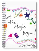 Let The Magic Begin Spiral Notebook