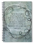 Let There Be Spaces Spiral Notebook