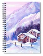 Swiss Mountain Cabins In Snow Spiral Notebook