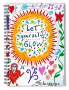 Let Yourself Glow Spiral Notebook