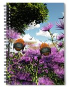 Two Bumblebees Discover The World Spiral Notebook