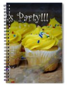 Let's Party Cupcakes Spiral Notebook