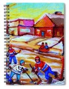 Lets Play Hockey Spiral Notebook