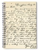 Letter From Abraham Lincoln To Alden Spiral Notebook