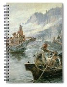 Lewis And Clark On The Lower Columbia River Spiral Notebook