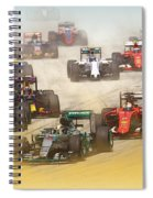 Lewis Hamilton Leads The Pack Spiral Notebook