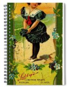 Libbys Bookmark Vintage With Girl On Beach Spiral Notebook