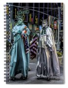 Liberties In Times Square Spiral Notebook
