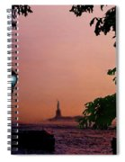 Liberty Fading Seascape Spiral Notebook