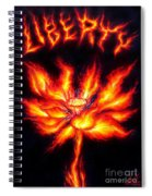 Lotus Of Wisdom. Liberty Fire Spiral Notebook