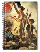 Liberty Leading The People Spiral Notebook