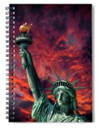 Liberty On Fire Spiral Notebook