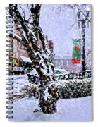 Liberty Square In Winter Spiral Notebook