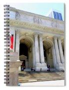 Library Lion Spiral Notebook