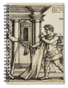 Lichas Bringing The Garment Of Nessus To Hercules Spiral Notebook