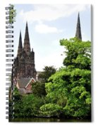 Lichfield Cathedral From Minster Pool Spiral Notebook
