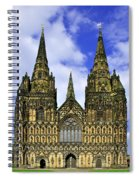 Lichfield Cathedral - The West Front Spiral Notebook