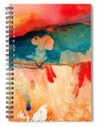 Life Eternal Red And Green Abstract Spiral Notebook