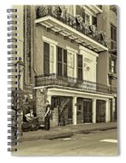 Life In The Quarter - Antique Sepia Spiral Notebook