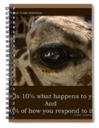 Life Is Going Eye To Eye Sometimes Spiral Notebook