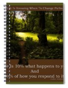 Life Is Knowing When To Change Paths Spiral Notebook
