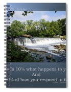 Life Is Staying Above The Debris Spiral Notebook
