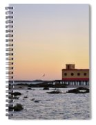 Lifesavers Building And Birds In Fuzeta. Portugal Spiral Notebook