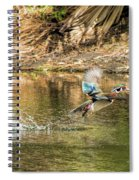 Liftoff In A Blur Of Color Spiral Notebook