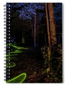 Lighit Painted Forest Scene Spiral Notebook
