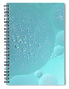 Light Blue Abstract Of Oil Droplet.  Spiral Notebook