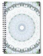 Light Blue Mandala- Art By Linda Woods Spiral Notebook
